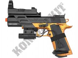 Project Z COM-1 Airsoft BB Gun Black and Bronze